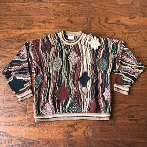 COOGI Vintage Multicolor Sweater Sz XL